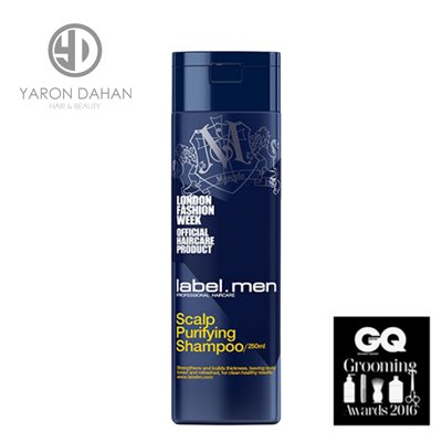 label.men scalp purifying shampoo לייבל מ שמפו לקשקשים