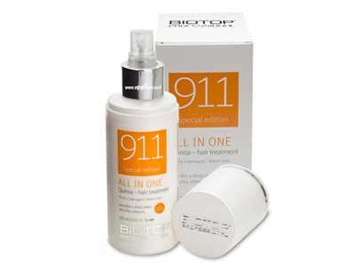 biotop 911 hair mask all in one quinoa 150ml ביוטופ
