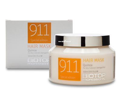 biotop 911 hair mask quinoa 550ml ביוטופ מסיכה לשיער