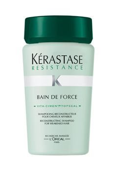 kerastase resistance bain de force 1 2 250ml קרסטס שמפו רסיסטנס 1 2 לקצוות מפוצלים